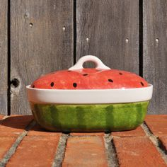 Watermelon Small Casserole by lestreasures on Etsy