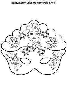 Elsa and Olaf: Free Printable Mask Template Elsa Frozen, Elsa Olaf, Carnival Crafts, Carnival Masks, Preschool Crafts, Fun Crafts, Crafts For Kids, Karneval Diy, Olaf Party