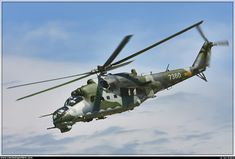 "Mil Mi-24V (""Hind-E"").   7360/087360,  Czech-Air Force.   Миль Ми-24В ""Крокодил""/""Лань""."