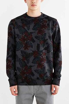 CPO Floral Crew Neck Sweatshirt - Urban Outfitters