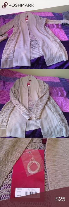 🎉ONE DAY SALE🎉Long Brown Cardigan Sweater NEVER WORN!! Long Brown Cardigan Sweater Kohls Sweaters Cardigans