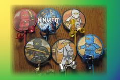 NINJAGO CUPCAKE TOPPERS!!!  Come check them out at Scrap Pantry on Zibbet