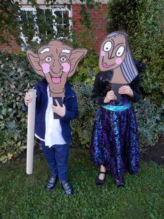 Cardboard Box Masks for Roald Dahl World Book Day :)
