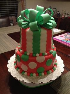 Christmas present tier by Buttercream Wishes