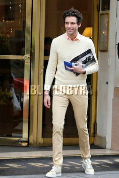 Mika leaving the Bristol Hotel in Paris, France on April 4, 2014