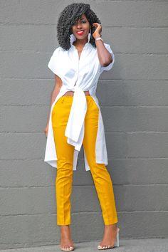 Outfit Details: Shirt (Rachel Comey): On sale here Cute Fashion, Look Fashion, Womens Fashion, Cute Casual Outfits, Stylish Outfits, Mode Kimono, Look Blazer, Modelos Fashion, Style Pantry