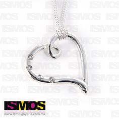 ISMOS Joyería: corazón de plata con zirconias // ISMOS Jewellery: silver heart pendant with zirconias