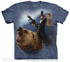 The Mountain Mens Lincoln The Emancipator T-shirt Large
