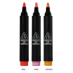 Concept Eyes - Lip Markers | Available in red, pink and orange #makeup #nattygal #lips