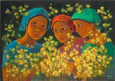 Anita Magsaysay Ho by Bobby Wong Jr. Philippine Women, Philippine Art, Illustration Art, Art Illustrations, New Artists, Art Images, Folk Art, Drawings, Filipiniana