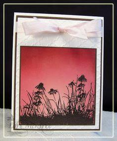 Smiling while Stamping: Sending Flowers Card made using Inkadinkado Meadow stamp set
