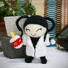 abby amigurumi lab specialist pattern - this is too funny