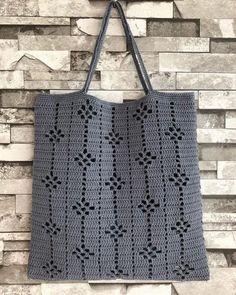 Ideas For Knitting Bag Diy Ganchillo Diy Crochet Cardigan, Débardeurs Au Crochet, Mode Crochet, Crochet Tote, Crochet Handbags, Crochet Purses, Filet Crochet, Crochet Stitches, Hand Knitting