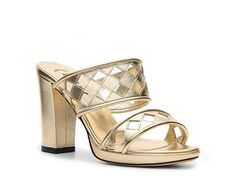 Bally Loysta Metallic Leather Cutout Sandal Womens Dress Sandals Sandals Womens Shoes - DSW