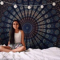 Indian Wall Hanging Hippie Mandala Tapestry Bohemian Bedspread Ethnic Dorm Decor for sale online Bohemian Bedspread, Bohemian Tapestry, Indian Tapestry, Mandala Tapestry, Bohemian Decor, Hippie Bohemian, Trippy Tapestry, Tapestry Beach, Tapestry Wall Hanging