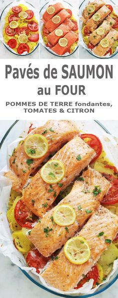 kartoffeln ofen Salmon steaks on a bed of melting potatoes in the oven Steak Recipes, Fish Recipes, Vegetable Recipes, Seafood Recipes, Healthy Salmon Recipes, Watermelon Recipes, Beef And Potatoes, Oven Potatoes, Food Preparation