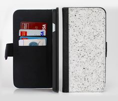 The Quarts Surface Ink-Fuzed Leather Folding Wallet Credit-Card Case for the Apple iPhone 6/6s, 6/6s Plus, 5/5s and 5c from DesignSkinz