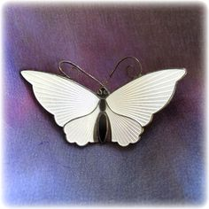 David Andersen Norway Sterling Silver White Enamel Butterfly Pin is half price during the Red Tag Sale.  Ends Sat., Jan 24th at 8AM PST.  Don't miss out!