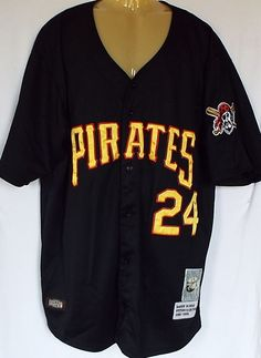 69907ca7 Vintage Cooperstown Pittsburgh Pirates Barry Bonds #24 MLB Jersey Size 48  RARE #CooperstownCollection #