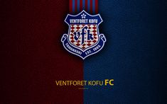 Download wallpapers Ventforet Kofu FC, 4k, logo, leather texture, Japanese football club, emblem, J-League, Kofu, Yamanashi, Japan, Division 1, football, Japan Football Championships