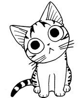 Coloriage Chi le petit chat
