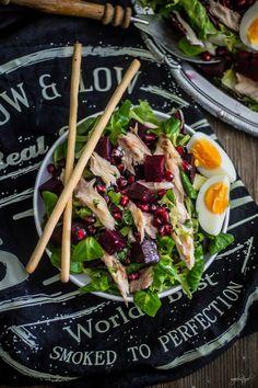 Sałatka z wędzoną makrelą i buraczkami Ethnic Recipes, Blog