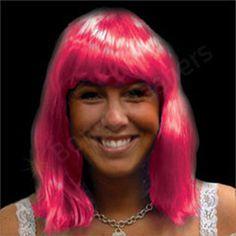 Pink Neon Wig - Non Flashing - Bongo Flashers