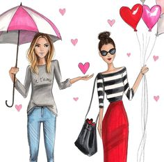 #Valentine'sH. Nichols Illustration- @hnicholsillustration/ hnillustration.etsy.com| Be Inspirational ❥|Mz. Manerz: Being well dressed is a beautiful form of confidence, happiness & politeness