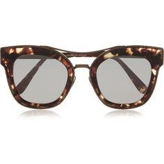 Bottega Veneta Cat-eye acetate and bronze-tone sunglasses (8373935 BYR) ❤ liked on Polyvore featuring accessories, eyewear, sunglasses, glasses, bottega veneta, brown, tortoise shell sunglasses, cat-eye glasses, tortoiseshell cat eye glasses and bottega veneta sunglasses