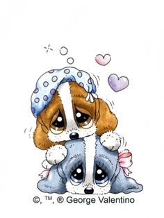 Sad Sam and Honey Puppy Pictures, Animal Pictures, Cute Pictures, Cute Animal Drawings, Cute Drawings, Cartoon Pics, Cute Cartoon, Cute Puppies, Cute Dogs