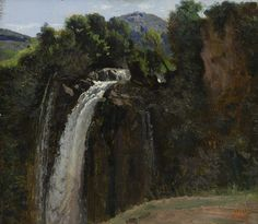 Camille Corot (French, 1796-1875), Waterfall at Terni, 1826