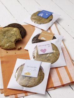 Cookies im Kuvert zum Abschied, als Trostpflaster, Mitbringsel, für die liebeskummerkranke Freundin oder als süßes Betthupferl.