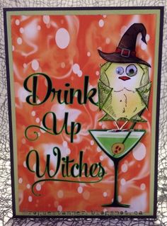 Bird Crazy Halloween card