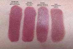 maybelline creamy sensational matte lipstick in touch of spice comparisons