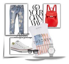 comfy by szannika on Polyvore featuring The Laundry Room, Abercrombie & Fitch, Converse, Alexander Wang, Marc by Marc Jacobs and Ray-Ban