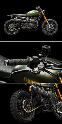 Love the Scrambler but want more power? This is how you take Triumph's modern classic from mild to wild—with a hot-rodded engine, Öhlins suspension, Brembo brakes and LSL superbike controls. See the mouth-watering spec at http://www.bikeexif.com/2014-triumph-scrambler