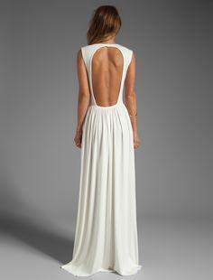 Fun backless dress: REVOLVE