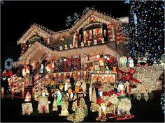 Last Trending Get all images light show christmas decorations Viral too much christmas cheer Christmas Light Show, Christmas Light Displays, Christmas Feeling, Merry Little Christmas, Cozy Christmas, Beautiful Christmas, Christmas Time, Victorian Christmas, Halloween Christmas