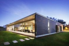 Simple minimalistic wooden home in Bauhaus style