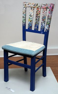 Lukens, Jeanette. Blue Chair  Media: Mixed Media. Price: $ 85.00. Show: Metamorphosis. Dates: October 3 - November 2, 2014. Curators: Kathy Turner, Betty Plummer. Judge: Elizabeth Ann Coleman. Location: Del Ray Artisans gallery at the Nicholas A. Colasanto Center, 2704 Mount Vernon Avenue, Alexandria, Virginia 22301.