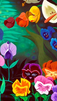 Disney wallpaper phone backgrounds art alice in wonderland 35 Ideas Disney Kunst, Arte Disney, Disney Magic, Disney Art, Disney Pixar, Alice In Wonderland Flowers, Wonderland Party, Alice In Wonderland Cartoon, Alice In Wonderland Background