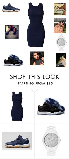 """""""going out"""" by aleisharodriguez ❤ liked on Polyvore featuring Oneness, Retrò, NIKE and MICHAEL Michael Kors"""