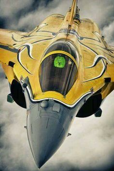 Dassault Rafale in Tiger Meet stripes Jet Fighter Pilot, Fighter Jets, Military Jets, Military Aircraft, Rafale Dassault, Photo Avion, Reactor, Dassault Aviation, Aircraft Painting