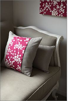 DIY - Cushion Wraps to update cushions quickly and easily. Full Tutorial.