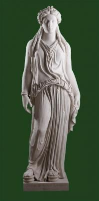 This wonderful Soane Caryatid, originally created by the famous Coade & Sealy company in 1812. This would have been one of the last designs created during John Sealy's lifetime as he died in 1813.The original Coade caryatid design was based on ancient Greek sculptures at the Erechtheion temple on the Acropolis in Athens, where the caryatids support an entablature.