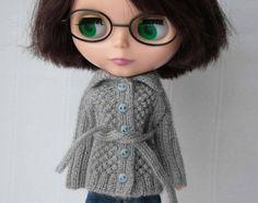 Blythe cardigan Grey blythe cardigan Blythe by VolnaDollsClother
