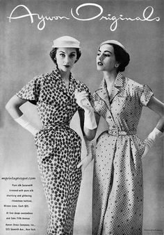 Perpetually stylish Aywon Originals summertime daywear looks from the early 50s.