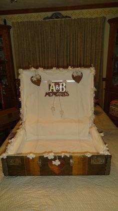 Amanda and Brett's decorated suitcase