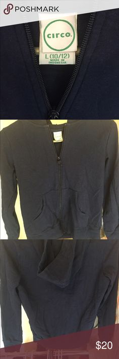 NWOT'S Circo hoodie Never worn, this jacket is without flaws. Size 10/12, navy blue color Circo Jackets & Coats
