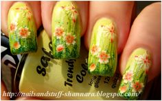 Nail Art: Summer Flowers & tutorial (video)